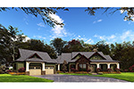 Mountain Home Plan Front of Home - 055D-0977 | House Plans and More