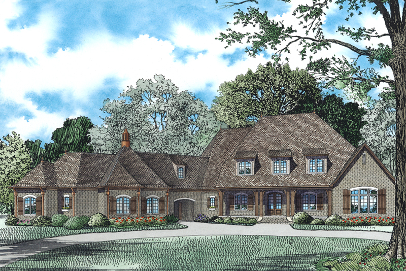 Rustic Home Plan Front of Home - 055D-0978 | House Plans and More