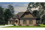 Ranch House Plan Front of Home - 055D-0984 | House Plans and More