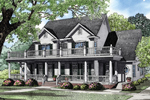 Luxury Plantation Style Two-Sory With A Second Floor Balcony And First Floor Covered Porch