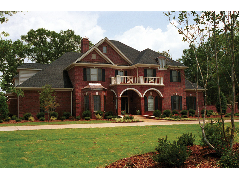 luxury traditional two story with all brick exterior