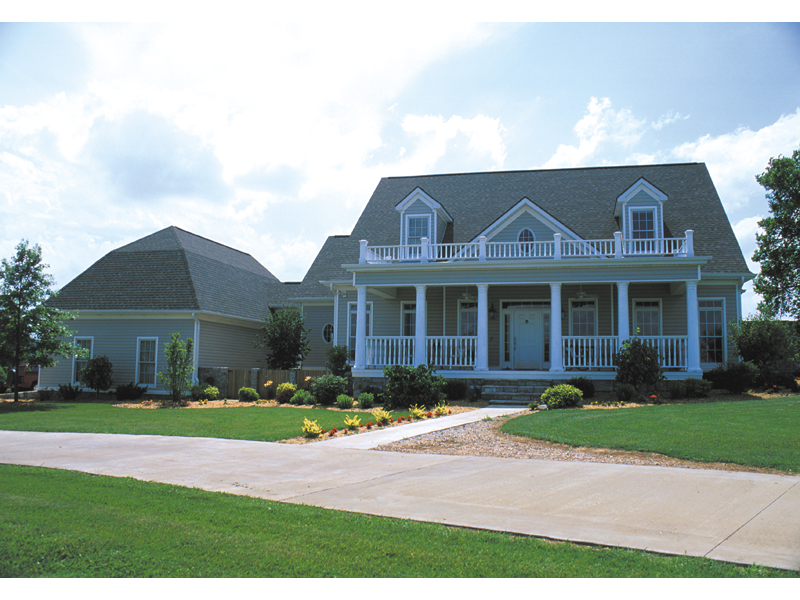Southern Plantation House Plan Front of Home 055S-0003