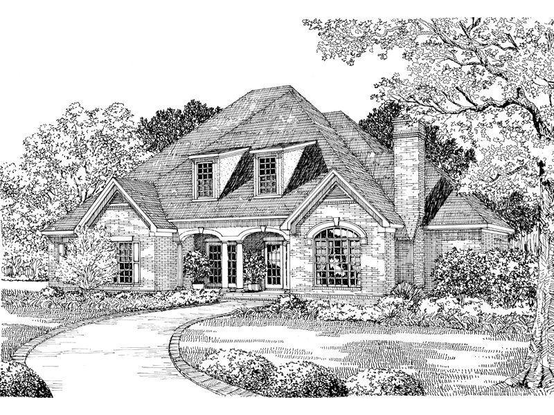 Dove Creek Country French Home Plan 055S0004 House Plans and More
