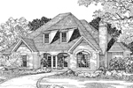 Country French Style Two-Story With Charming Roof Dormers