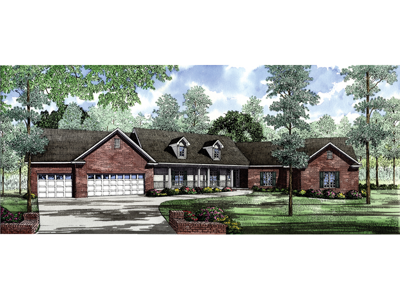 sprawling luxury ranch home will full brick exterior - Luxury Homes Exterior Brick