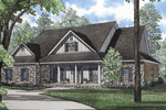 Relaxing Southern Craftsman Design With Wide Front Porch