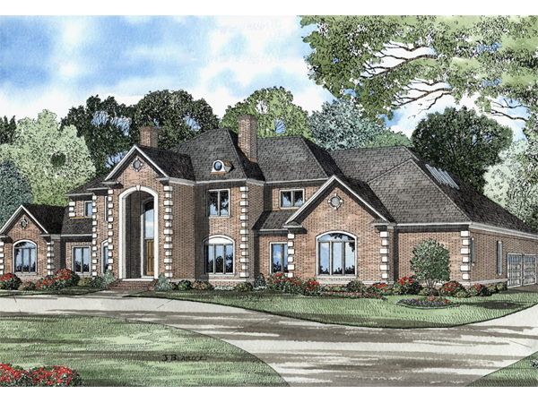 Montevideo manor european home plan 055s 0015 house for European manor house plans