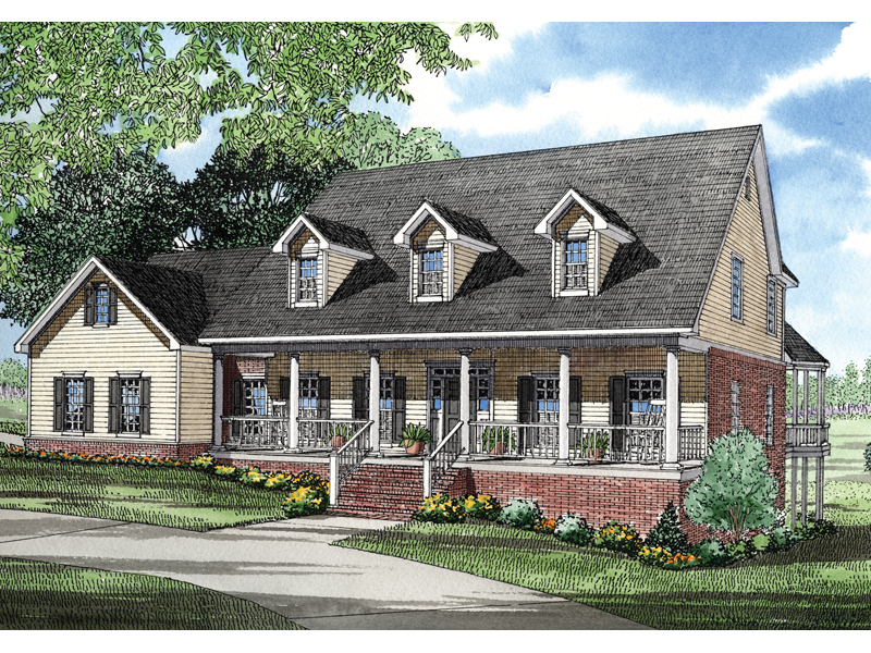 Shannon place cape cod home plan 055s 0023 house plans for Cape cod house with porch