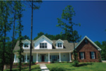 Colonial Floor Plan Front Photo 01 - 055S-0024 | House Plans and More