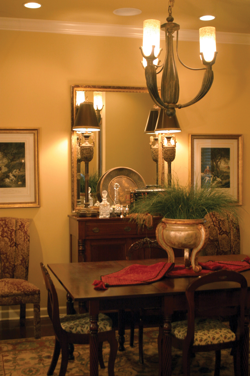 Country French Home Plan Dining Room Photo 01 055S-0027