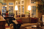 Country French Home Plan Great Room Photo 02 - 055S-0027 | House Plans and More