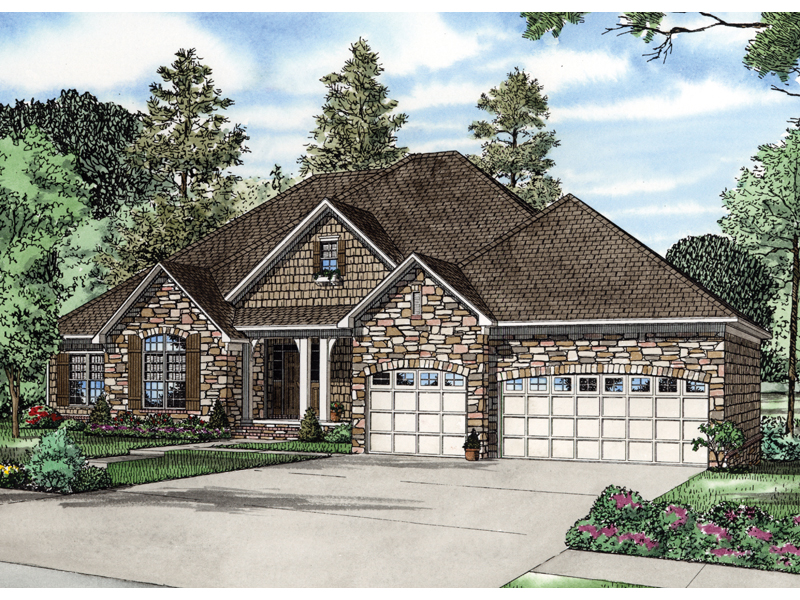 Traditional House Plan Front of Home - 055S-0038 | House Plans and More