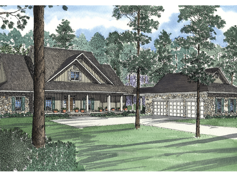 Well-Designed Arts And Crafts Home With Vertical Siding And Large Porch