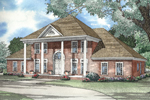 Traditional Luxury Two-Story Incorporates Greek Revival Style