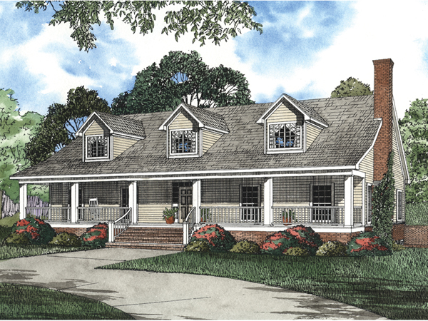 Nantucket cliff cape cod home plan 055s 0042 house plans for Cape cod house plans with basement