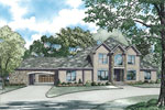 Luxury House Plan Front Image - 055S-0043 | House Plans and More