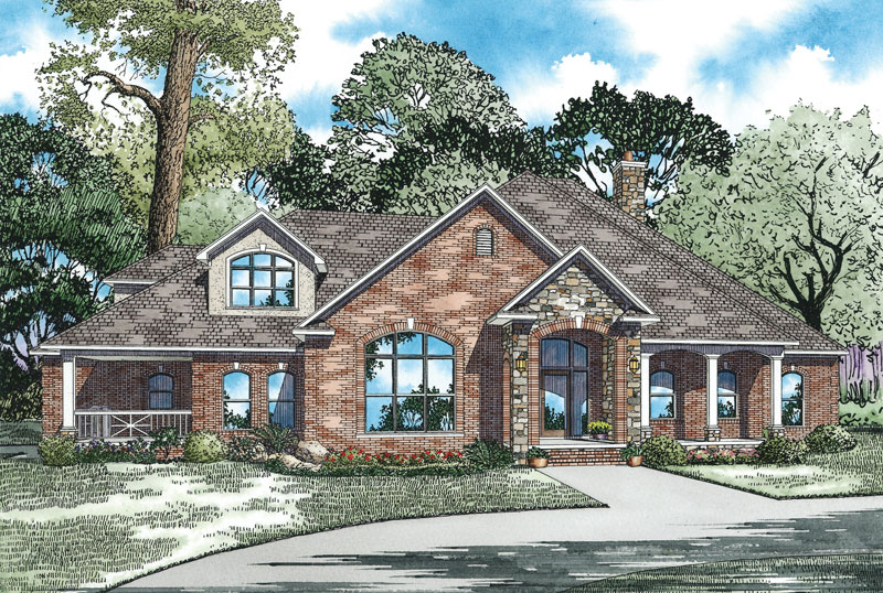 Country House Plan Front Image - 055S-0045   House Plans and More