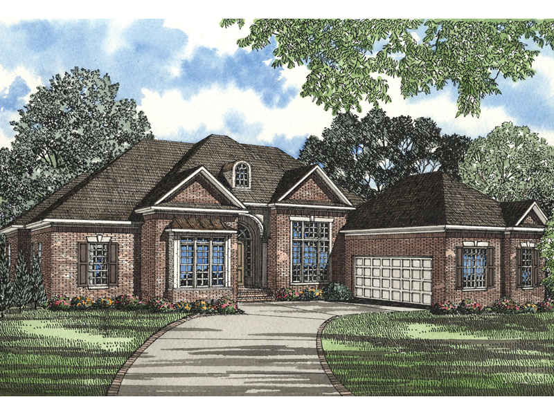 Country House Plan Front of Home 055S-0049
