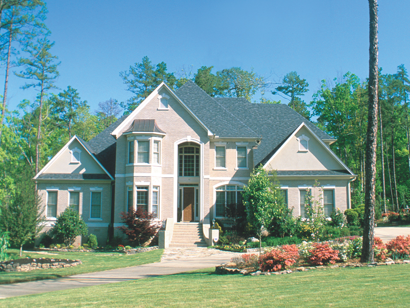 Traditional House Plan Front of Home 055S-0050