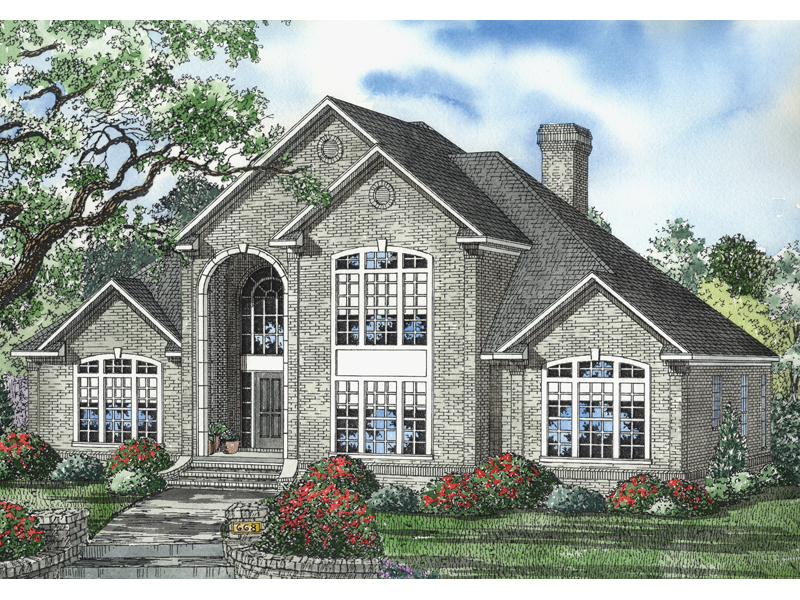 Contemporary House Plan Front Image - 055S-0054 | House Plans and More