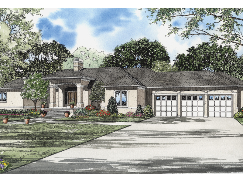 Modern House Plan Front of Home - 055S-0063 | House Plans and More