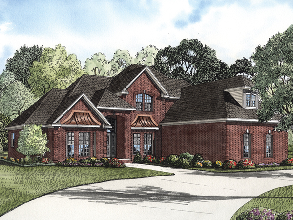 Eldred luxury brick home plan 055s 0067 house plans and more - Brick house plans ...