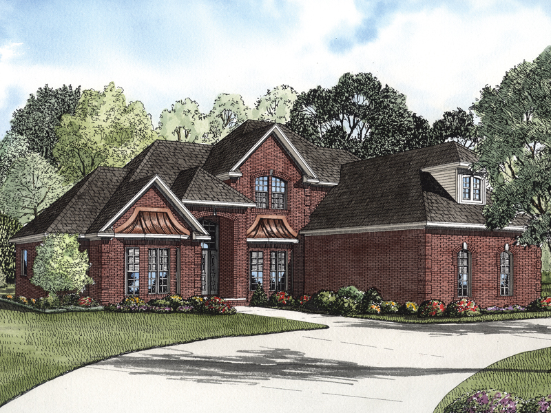 Eldred luxury brick home plan 055s 0067 house plans and more for Brick farmhouse plans