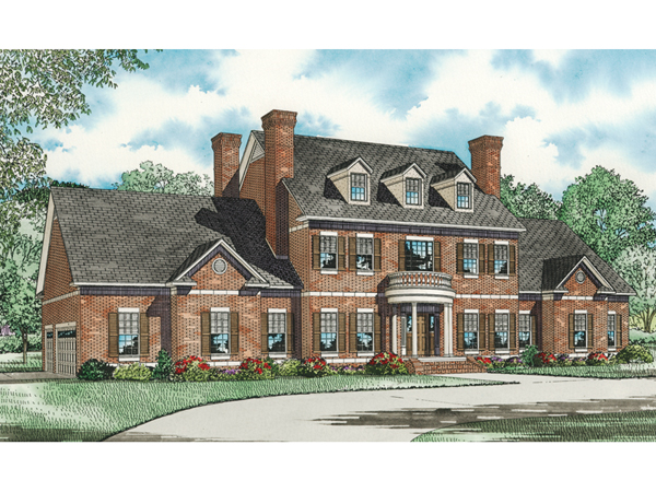 Saltsburg luxury georgian home plan 055s 0081 house for Luxury brick house plans