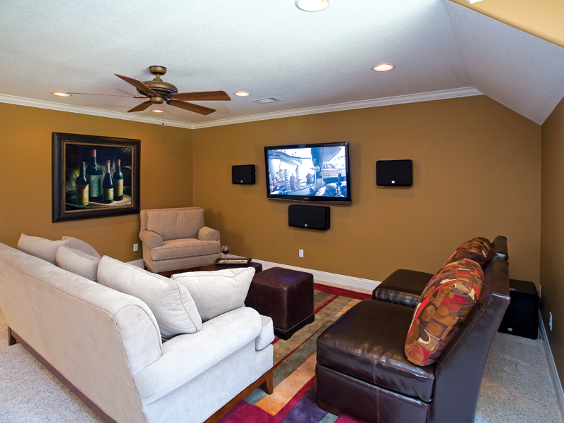 Contemporary House Plan Theater Room Photo 01 055S-0087