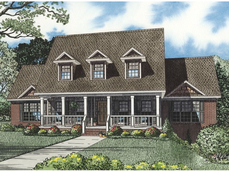 Luxury House Plan Front of Home 055S-0100
