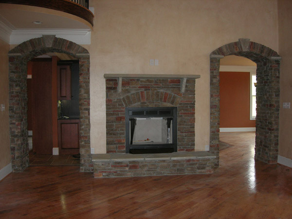 European House Plan Fireplace Photo 01 - 055S-0101 | House Plans and More