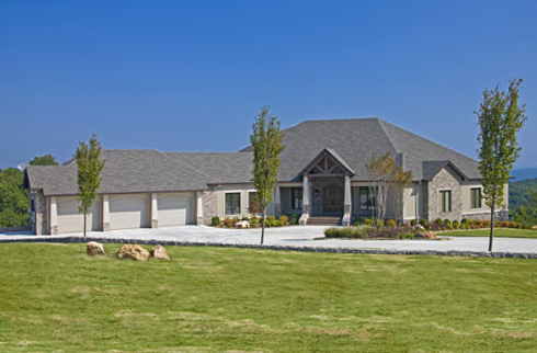 Ranch House Plan Front of Home 055S-0103