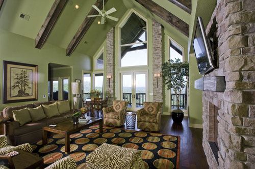 Ranch House Plan Living Room Photo 01 055S-0103
