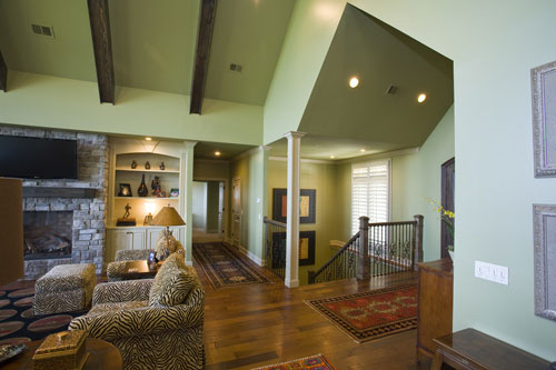 Ranch House Plan Stairs Photo 055S-0103