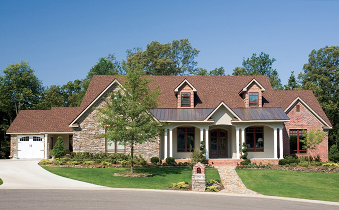 Stunning House Plan Has Stone Step Entry
