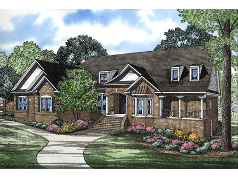 Luxury House Plan Front of Home - 055S-0106   House Plans and More