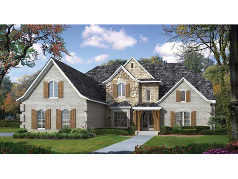 European House Plan Front of Home - 055S-0108 | House Plans and More