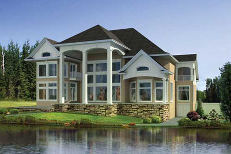 Luxury House Plan Rear Photo of House 055S-0109
