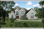 European House Plan Front of Home - 055S-0110 | House Plans and More