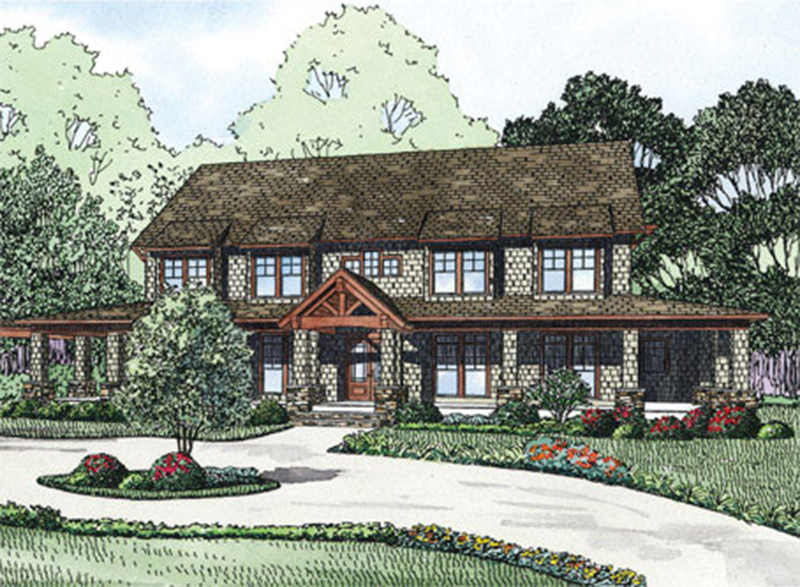 Arts and Crafts House Plan Front of Home - 055S-0112 | House Plans and More