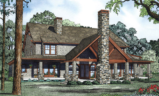 Arts and Crafts House Plan Color Image of House - 055S-0112 | House Plans and More