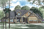 Craftsman House Plan Front of Home - 055S-0114 | House Plans and More