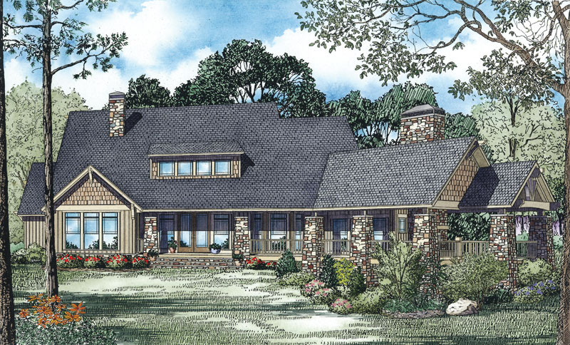 Craftsman House Plan Color Image of House - 055S-0114 | House Plans and More