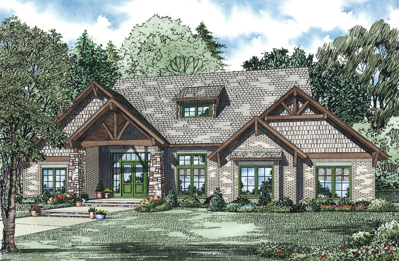Luxury House Plan Front Image - 055S-0116 | House Plans and More