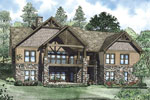 Arts and Crafts House Plan Color Image of House - 055S-0117 | House Plans and More