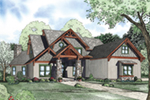 Craftsman House Plan Front of Home - 055S-0118 | House Plans and More