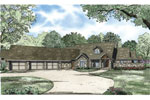 European House Plan Front of Home - 055S-0119 | House Plans and More