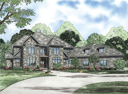 English Cottage House Plan Front of Home - 055S-0120 | House Plans and More