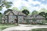 European House Plan Front of Home - 055S-0120 | House Plans and More