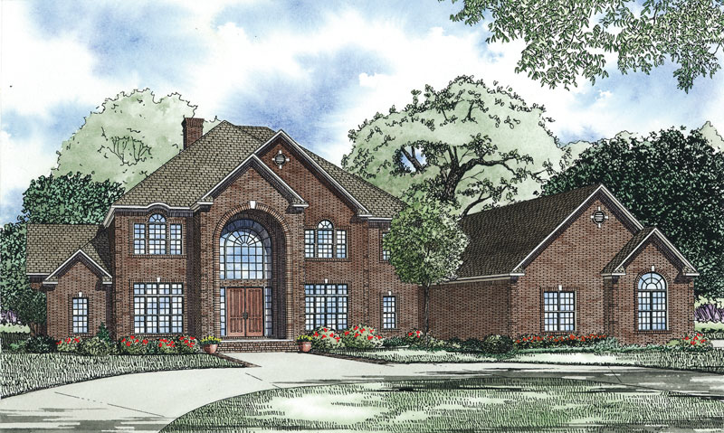 Traditional House Plan Front of Home - 055S-0121 | House Plans and More